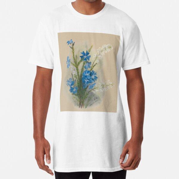 Western Australia wild flower Blue Leschenaultia - Lechenaultia Biloba State Library of Western Australia Long T-Shirt