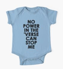 No Power In The 'Verse Can Stop Me Short Sleeve Baby One-Piece