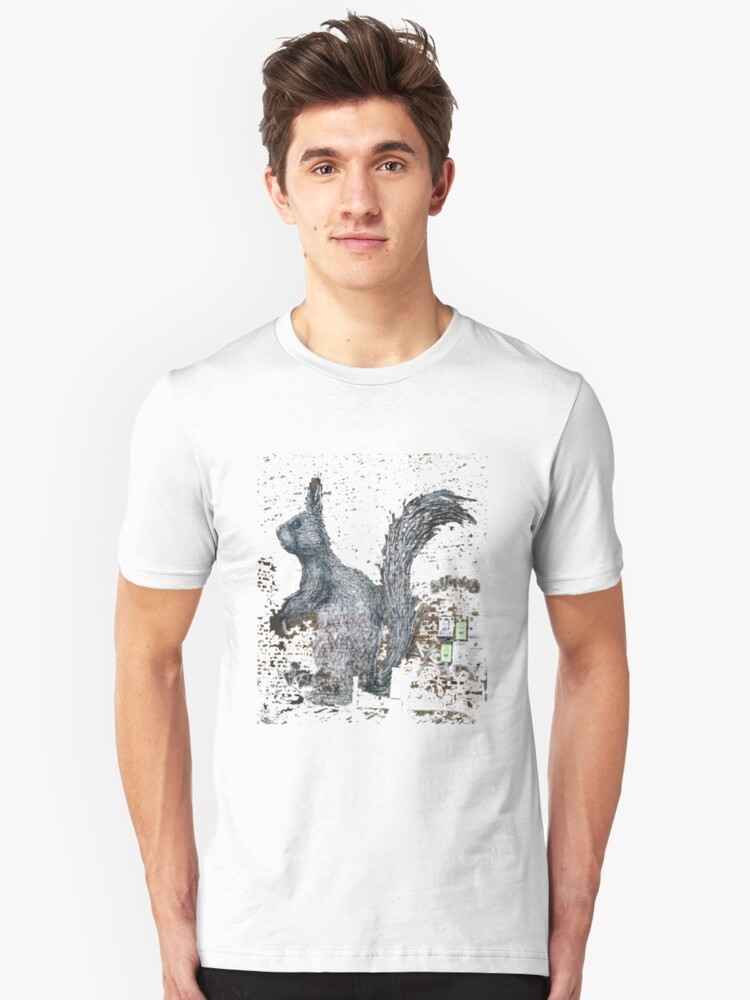Giant Squirrel by ROA Unisex T-Shirt Front