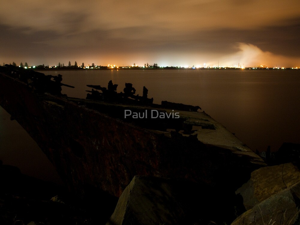 Stockton By Night - Newcastle - New South Wales by Paul Davis