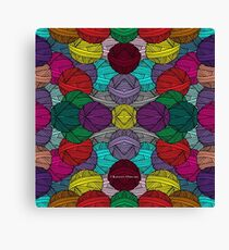 Allover Yarn Canvas Print