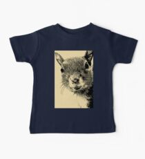 Squirrel Lithograph Kids Clothes