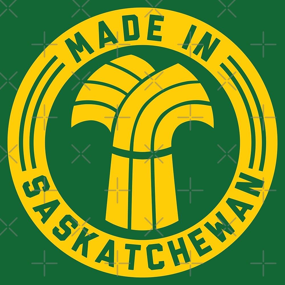 Made in Saskatchewan Logo (Gold & Green) by madeinsask