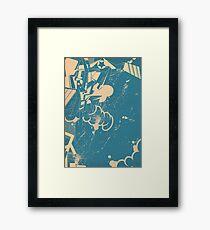abstract graffiti sketch Framed Print