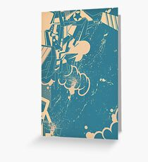 abstract graffiti sketch Greeting Card