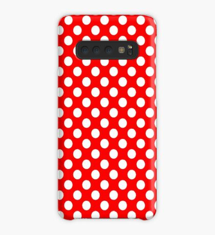 White on Red Polka Dots Case/Skin for Samsung Galaxy