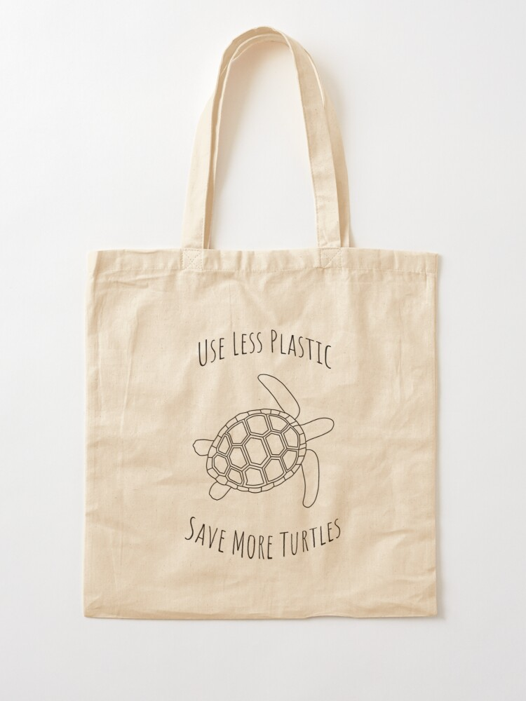 Alternate view of Save the Turtles - Large Tote Bag