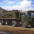 Maudslay artic on coal haulage. by Mike Jeffries