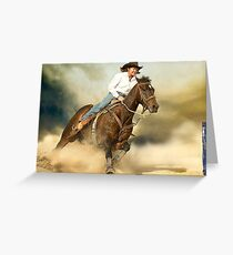 Thundering Hooves Greeting Card