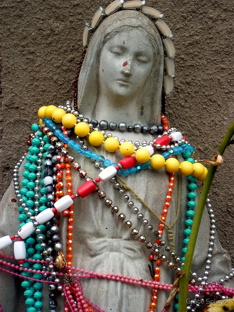 Blessed Virgin in Beads by Graciela Maria Solano