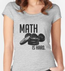 Math is Hard Women's Fitted Scoop T-Shirt
