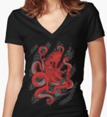 Anchors Away Women's Fitted V-Neck T-Shirt