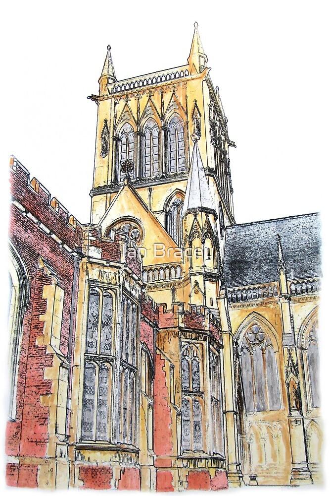 St John's College Chapel II, Cambridge by Ian Bracey