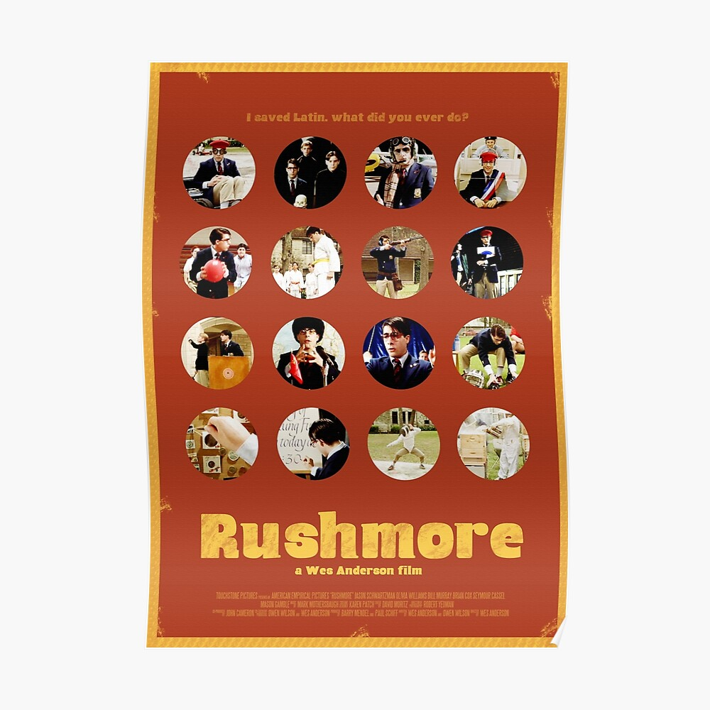Rushmore featuring the many faces of Max Fischer Poster
