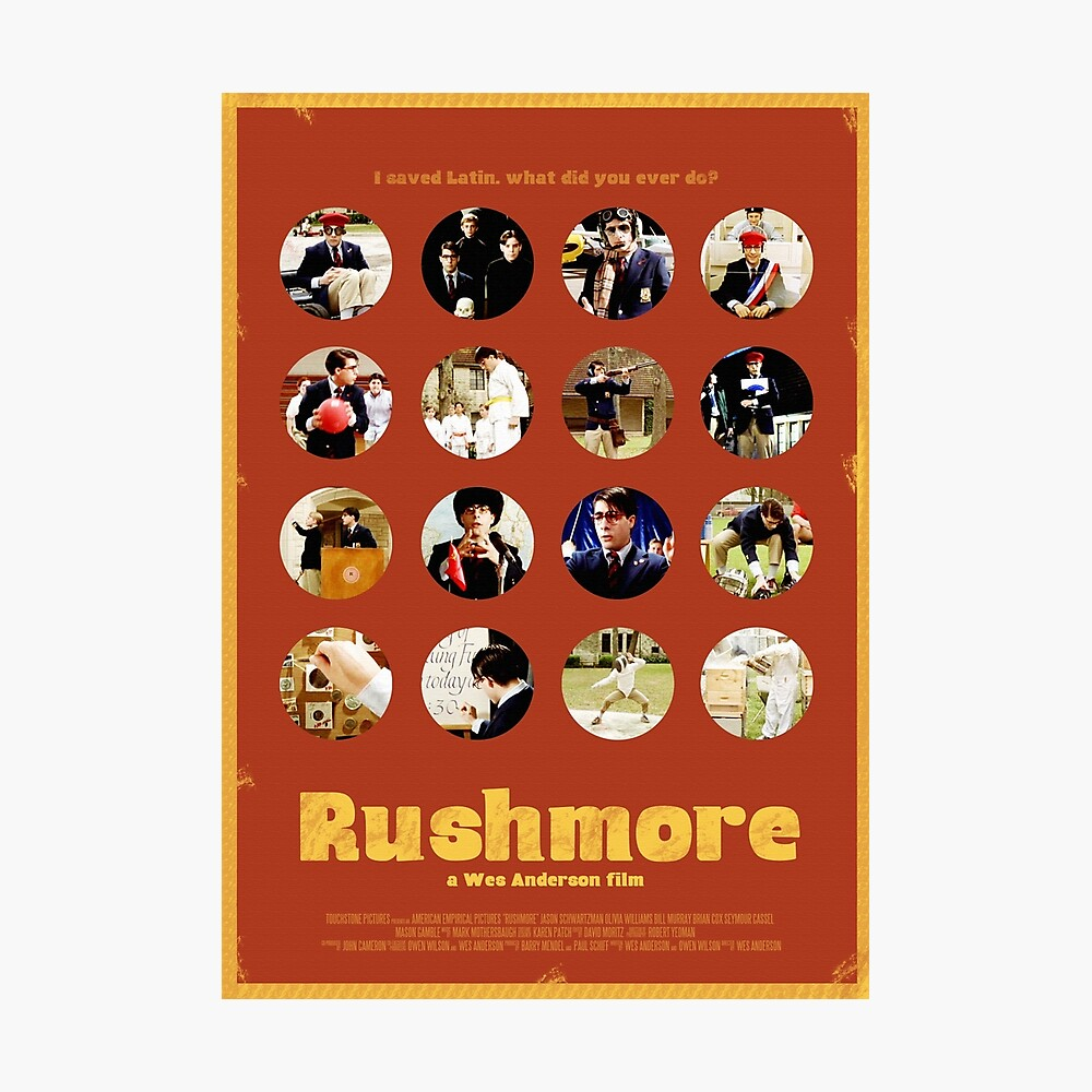 Rushmore featuring the many faces of Max Fischer Fotodruck