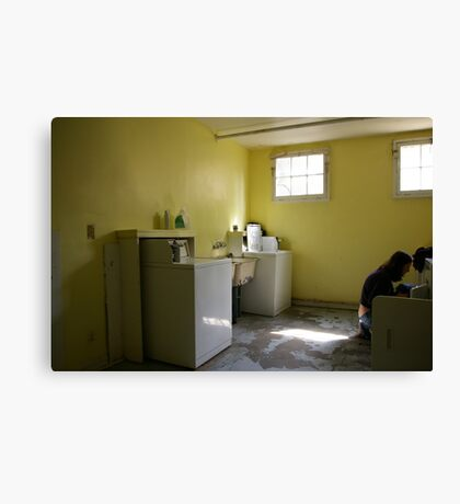 after noon in the laundryroom Canvas Print