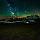 Mt Rainier and Milky way by James Duffin