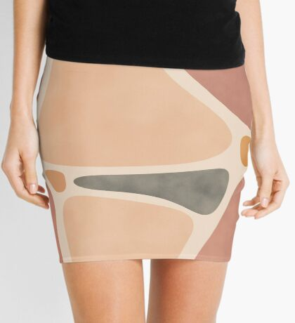 Pottery Shapes #redbubble #abstractart Mini Skirt
