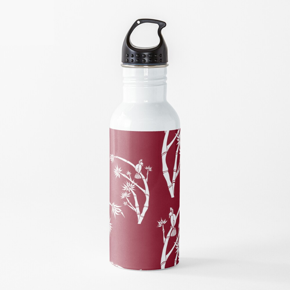 Oriental bamboo bird Water Bottle