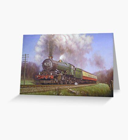GWR King class 4.6.0 on Dainton bank. Greeting Card