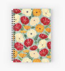 Textured Poppies  Spiral Notebook