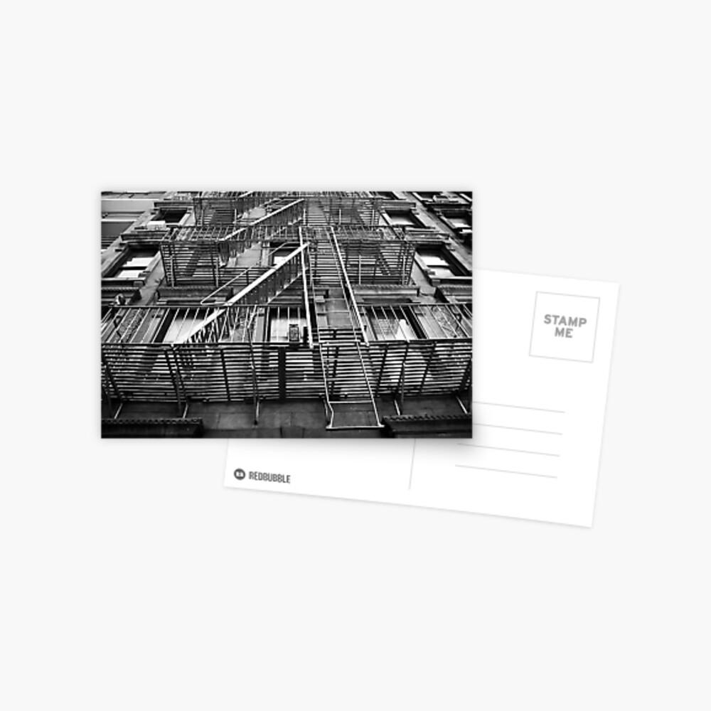 New York City Fire Escape Postcard