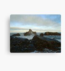 Seascape in Aberdeenshire Canvas Print