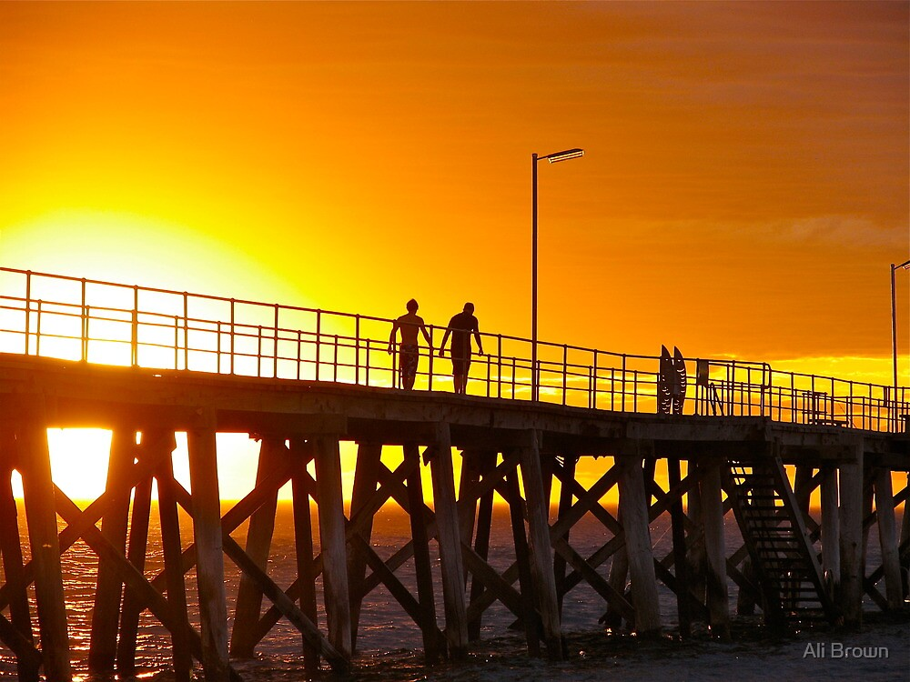 The Yellow glow....Port Noarlunga Adelaide by Alison  Brown