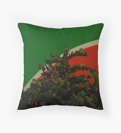 Green is in Throw Pillow