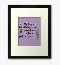 My Knight Framed Print