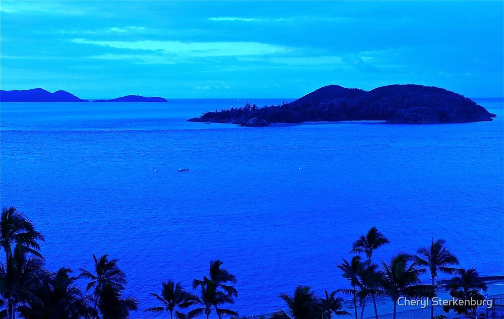 Blue Dawn Island - Great Barrier Reef, Australia by Cheryl Sterkenburg