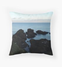 Seascape from Slains Castle, Aberdeenshire Throw Pillow