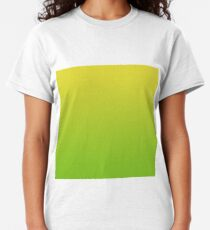 Yellow and Green Gradient Overlay Classic T-Shirt