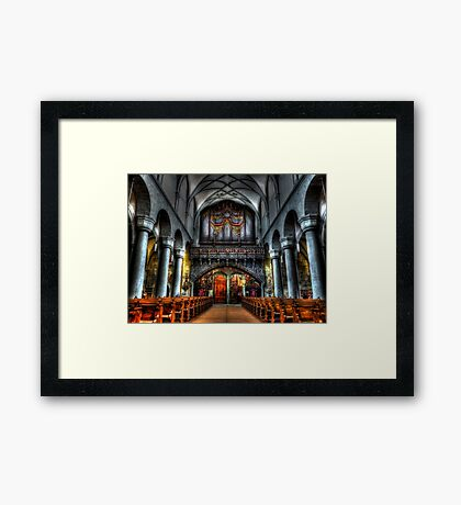 Pipe Organ - Constance Cathedral Framed Print