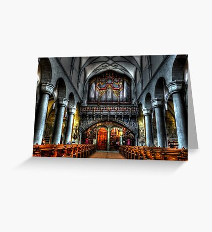 Pipe Organ - Constance Cathedral Greeting Card
