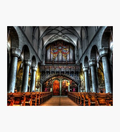 Pipe Organ - Constance Cathedral Photographic Print