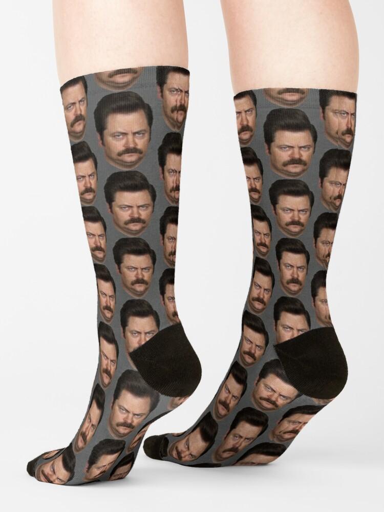 Alternate view of Ron Swanson Socks