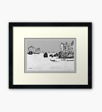 Thailand - the view from Ton Sai beach * Framed Print