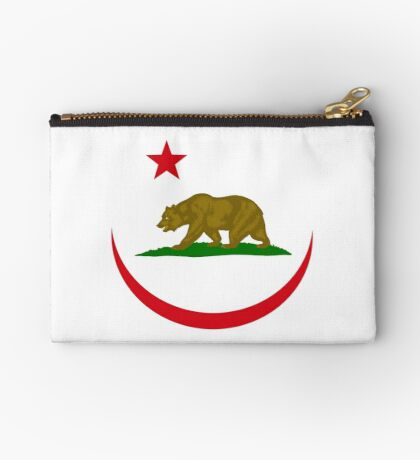 Californian Murican Patriot Flag Series 2.0 Zipper Pouch