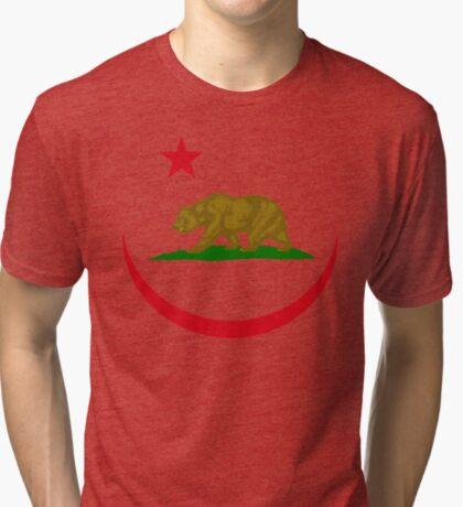 Californian Murican Patriot Flag Series 2.0 Tri-blend T-Shirt