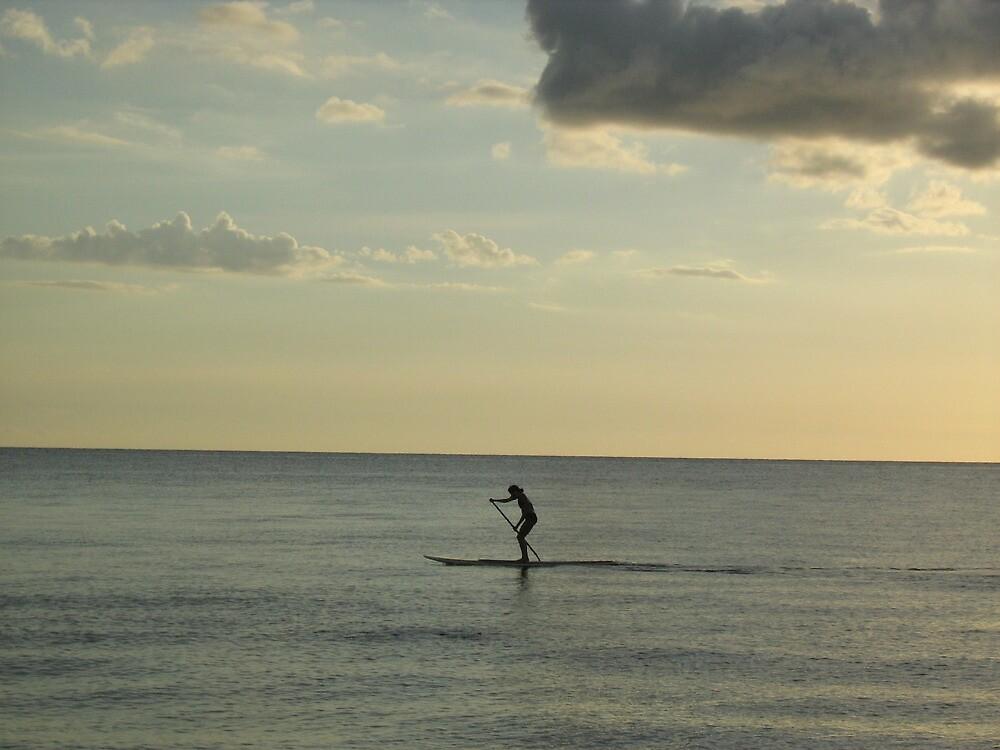 sunset kayak by ceciperu