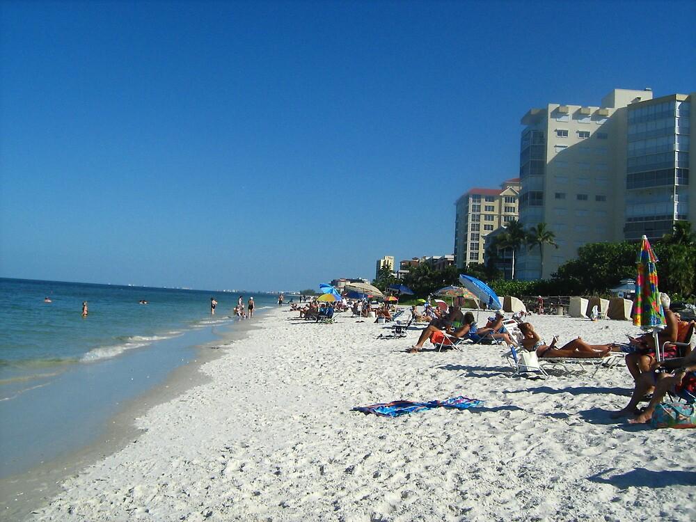 white sand beach by ceciperu