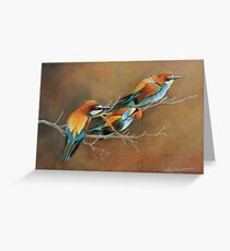 Bee Eaters Greeting Card