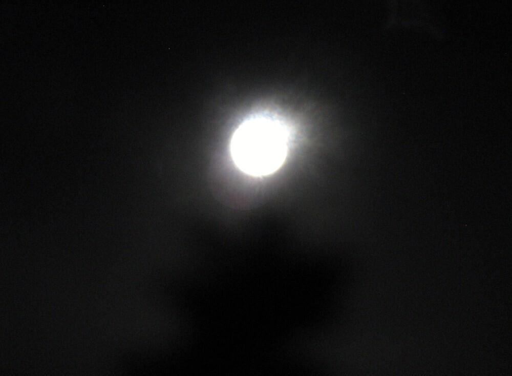 full moon at hot night by ceciperu