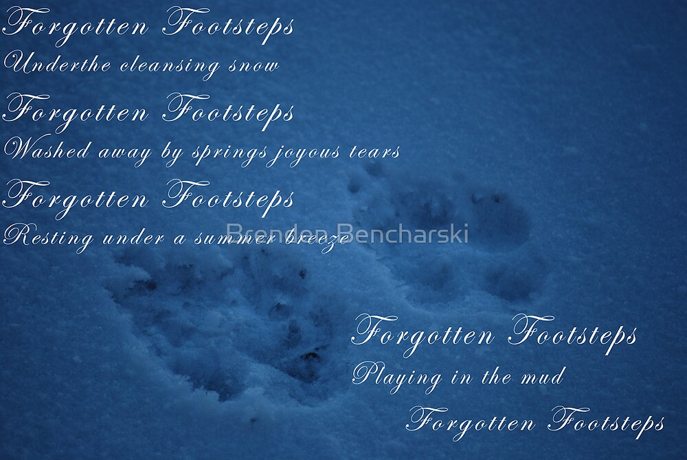 Forgotten footsteps with poem by Brenden Bencharski