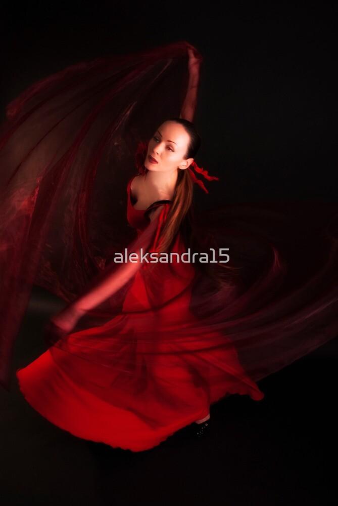 Red veil by aleksandra15