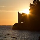 Italy - Trieste - Miramare Castle at sunset in 2017 by renprovo