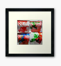 Water and ink.(food color) Framed Print