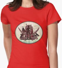 Pirates of the Inbetween Womens Fitted T-Shirt