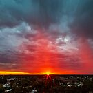 Sunset and Spring Showers by robcaddy